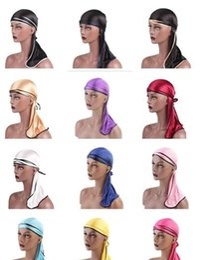 Novelty Hair Hats Wholesale Australia - 2019 fashion Unisex King's Durag Hats Beauty Town Hip-Hop cap Wigs Doo Durag Biker Headwear Headband Pirate Hat Women Hair Accessories