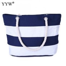 Multi Color Ladies Handbags Australia - Women'S Canvas Handbags Large Capacity Female Hobos Strip Shoulder Bags Multi-Color Ladies Totes Bag Hand Bag 2019