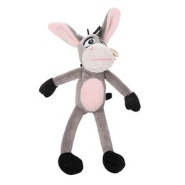 cute fruits doll Canada - Cute Little Donkey Pendant Little Donkey Keychain Fun Plush Doll Children Toy