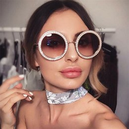 mixed crystals NZ - Luxury Metal Round Sunglasses With Crystal Luxury Ltalian Brand Retro Round Sun Glasses Female Black Rhinestone Shades