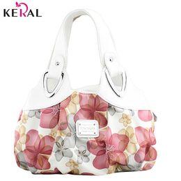 $enCountryForm.capitalKeyWord Australia - Wholesale-Hot free shipping! new popular flower pattern PU leather women handbags shoulder bag for female messenger bags