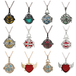 $enCountryForm.capitalKeyWord Australia - 200 Style Tree of Life Waterdrop Owl pregnant Necklace Essential Oil Diffuser Locket Angel Bola Lave Beads Cage Perfume Pendant Charms