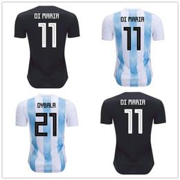 2018 Argentina jersey AAA World Cup soccer Jerseys MESSI DI MARIA DYBALA  AGUERO HIGUAIN ICARDI Russia top thailand football shirt Uniform 498a1d1e4