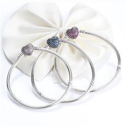 $enCountryForm.capitalKeyWord Australia - 2019 Luxury Women Silver Bangle Rose Gold Plated CZ Pave Bracelet fit Pandora Charms European Beads Bracelet Jewelry