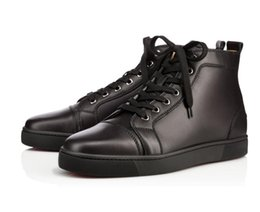 $enCountryForm.capitalKeyWord Australia - Designer Fashion High Quality Men Black Calfskin Sneakers High-tops Genuine Leather Shoes, Luxury Men Skate Junior Outdoor Walking Young Man