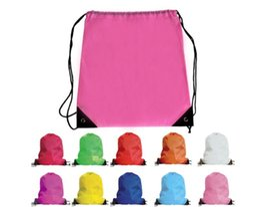 Wholesale Frozen Clothing Australia - Solid Multi-function Solid kids clothes shoes bag School Drawstring Frozen Sport Gym PE Dance Backpacks swim bags