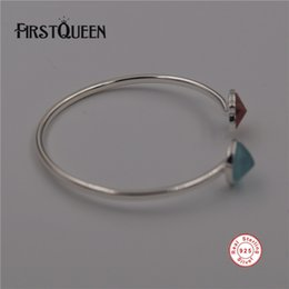 Silver chain braceletS lobSter claSpS online shopping - FirstQueen Pure Silver Bracelets Bangles Original Fine Jewelry Pulseras Mujer Plata de ley