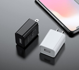 Wholesale iphone adapters resale online - UL FCC Certified US Plug V A A USB Fast Charger Travel Wall Charger Mobile Phone Power Adapter for iphone samsung black white