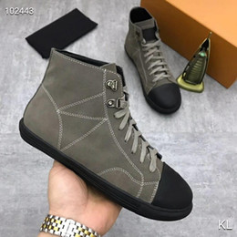 leather high Canada - France famous design High top womens Flats Genuine Leather Lace Up Casual Shoes Trend Luxury Platforms Denim Breathable women shoes-1