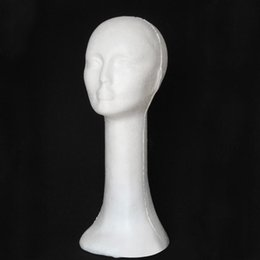 wig head stand hair NZ - Mannequin Female Foam Long Neck Head Model Hair Hat Wig Glasses Stand Display Levert Dropship 3MAR30