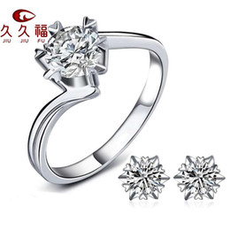 $enCountryForm.capitalKeyWord NZ - European and American fashion open couples ring female Korean version of zircon six-claw crown weddinred live ring accessories silveWholesal