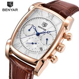 $enCountryForm.capitalKeyWord Australia - Benyar Square Men Watch Top Brand Luxury Business Waterproof Quartz Leather Sport Wrist Watch Men Clock Male Relogio Masculino