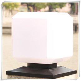 solar posts lights Canada - Square Solar Power Lights Outdoor Garden Fence Post Light Piller Light Waterproof Column Pillar Lantern Wall Lamp