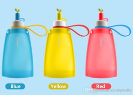 hot water bottle hand warmers Australia - Hot Sale! 300ml Food-grade Silicone cups Kid's Portable type Folding water bottles drinkware Outdoor travel water bottles for children