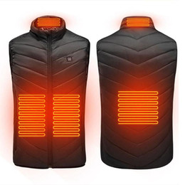 place clothing Australia - 2020 Men 4 places Outdoor USB Infrared Heating Vest Jacket Men Winter Electric Thermal Clothing Waistcoat For Sports Hiking