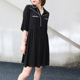 $enCountryForm.capitalKeyWord Australia - Women's wear European and American minority brands European and American simple dresses Middle sleeves college style dress women