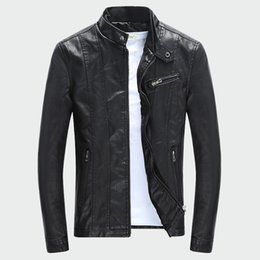 $enCountryForm.capitalKeyWord NZ - 2019 Men's PU Jackets Coats Autumn Winter Motorcycle Biker Faux Leather Jacket Men Clothes Thick Velvet Coats M-3XL