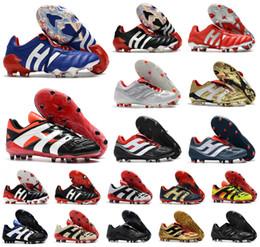 Venta al por mayor de Hombres Predator 20 + mutador Mania Torturador Acelerador de Electricidad de precisión 20 + x FG Beckham DB Zidane ZZ zapatos Tacos de fútbol botas de fútbol