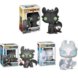 Train Figures Australia - Funko POP Toothless How To Train Your Dragons Night Fury Toy 10cm Pvc Action Figure Collectible Model Toy