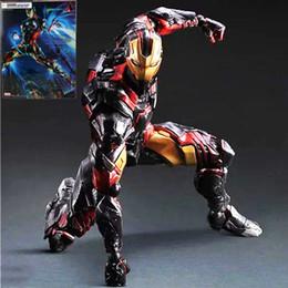 Marvel Iron Man Figure Australia - Marvel Comics Play Arts Kai Marvel 25cm Iron Man Super Hero Ironman Pvc Action Figures Toys Anime Figure Toys For Kids Children