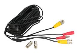 32ft 10m BNC + DC CCTV Cable para analógico AHD CVI CCTV Cámara de vigilancia DVR Kit Video Power 2in1 cable cámara envío gratis venta caliente oem 2019 en venta