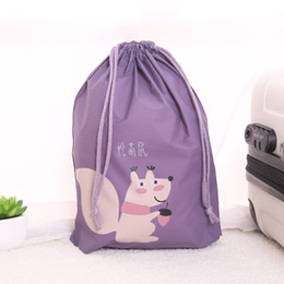 Silk drawString Shoe bagS online shopping - Suitcase Shoes Underwear Travel Storage Bag Cartoon Waterproof Dust proof Organizer Clothes Packing Drawstring Bag Portable