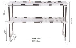 $enCountryForm.capitalKeyWord NZ - Adjustable Kitchen Storage Shelf Cupboard Organizer Spice Rack Bathroom Accessories Space Saving Shoe Rack Holders Book Shelves HY0059