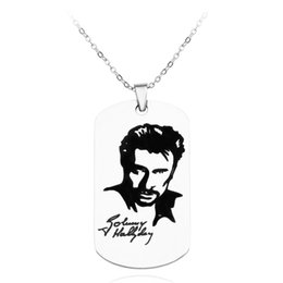 $enCountryForm.capitalKeyWord Australia - Personalized engrave punk rock Johnny Hallyday photo Necklace custom for women men stainless steel chain pendant charm choker