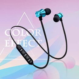 Iphone Stereo Mic Australia - XT-11 Magnetic Bluetooth Earphone V4.2 Stereo Sports Waterproof Earbuds Wireless in-ear Headset with Mic for iPhone Samsung