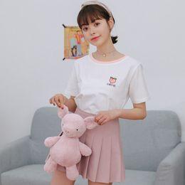 Watermelon Color T Shirts Australia - Best selling Top 2019 Summer New Harajuku kawaii fruit series T-shirt peach watermelon color round neck cotton women tee-shirt