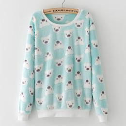 Flannel Sweatshirts Australia - Cute Bear Elephant Star Harajuku Brand Hoody Women Sweatshirt Full Sleeve Fashion Pullover Soft Flannel Feminino Sudaderas Mujer