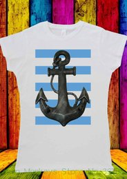 46bf5accd Women's Tee Sailor Anchor Sea With Blue Line T-shirt Men Women Unisex 2075  Design T-shirts Novelty Tops Tee