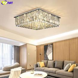 $enCountryForm.capitalKeyWord Australia - FUMAT Crystal K9 Square Remote Control Ceiling Lamps Luxury Chandelier Lights LED Luminaria Living Dining Room Light Hanglamp