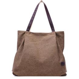 $enCountryForm.capitalKeyWord Australia - Women Canvas Tote Bag Korean Style Shopping Bag Daily Use Foldable Handbag Large Capacity Shoulder Tote for Girls Female