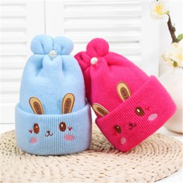 crochet spring hats for babies Canada - ideacherry Cute Baby Hats 5 Colors Winter Newborn Girl&Boy Hats Baby Soft Warm Crochet Knit Cartoon Beanie Cap for 0-1Years Baby