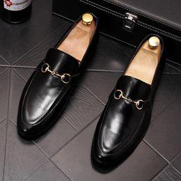 $enCountryForm.capitalKeyWord Australia - Genuine leather Formal Men's Business leather shoes white Men dress shoes men oxfords slip on wedding shoe designer shoes for men