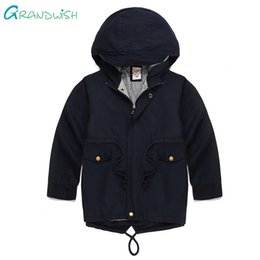 $enCountryForm.capitalKeyWord Australia - Grandwish Boys Solid Spring Outerwear Girl's Hooded Trench Jacket for Boy Children's Autumn Windbreaker Clothing 3T-10T, SC944