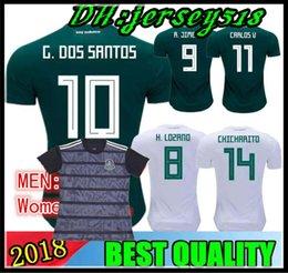 2903b6a777732 Copa mundial de México México 2018 Jersey lejos local 17 18 Verde  CHICHARITO Camisetas de futbol Hernandez G DOS SANTOS camisetas de fútbol