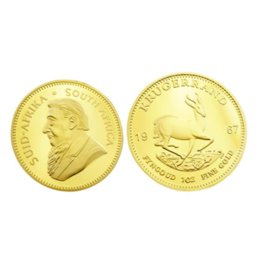 currency coins UK - 1967-2014 Present Gold Plated Kruger South Africa's First Presidential Commemorative Coin Art Collection Non-Currency Coins hot 1 pcs