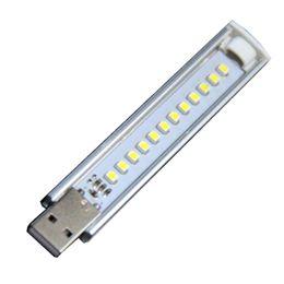 Reading Gadgets Australia - Mini USB LED Night Light 12LEDs 5V Bulb Cold White Lamp for Reading Gadget Notebook Power Bank Laptop