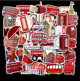 priced guitars NZ - Low Price London Red Bus Style Stickers Luggage Trolley Case Laptop Skateboard Guitar Waterproof Doodle Stickers