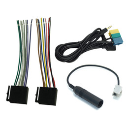 $enCountryForm.capitalKeyWord Australia - LEEWA Car AUX USB Power Harness Antenna Adapter Suite Set For Hyundai PA710S KIA Soul Radio CD MP3 #3240