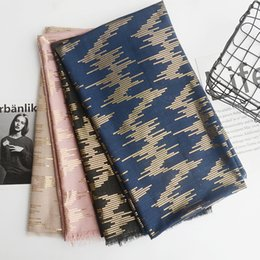 Solid Cotton Shawl Australia - NEW Arrival Japanese Style Blue And Black Women Cotton Scarf Warm Winter Scarf Solid Shinny Gold Color Shawl Men Scarf Scarves