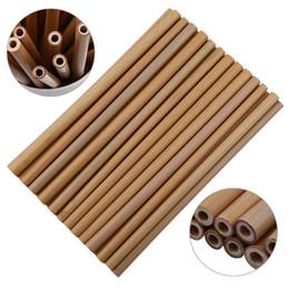 Paja de bambú Reutilizable Paja de bambú Pajas de beber de bambú Paja de madera natural para fiesta de cumpleaños Wedding Bar Tool MMA1887 en venta
