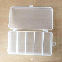 bait boxes wholesale NZ - 5 Compartments Fishing Tackle Box Storage Case Fly Fishing Lure Spoon Hook Bait Tackle Case Box Fishing Accessories Tools