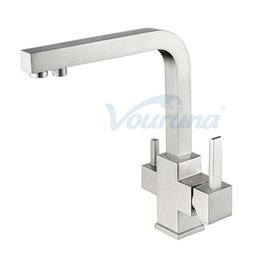 $enCountryForm.capitalKeyWord NZ - VOURUNA Cubix 3 Way Tap for Osmosis Water Filter Equipment Tri Flow Kitchen Faucet Black Brushed Chrome