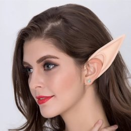 Angel mAsk online shopping - Halloween Accessories Prosthetic Ears Latex Christmas Masks Anime Pointed Soft Angel Selling Party Elf Mysterious Costumes Props