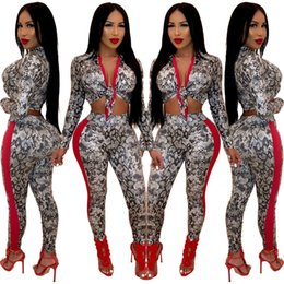 Two Piece Suits For Ladies NZ - Women Clothes Fashion casual snakeskin long sleeves digital print ladies sexy two-piece suit slim for sale
