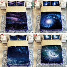 galaxy bedding full size 2019 - 3D Galaxy Printed Child Christmas Bedding Sets Europe Type Style Duvet Covers for King Size Bedding Duvet Cover Pillow C