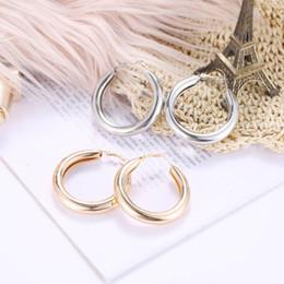 Discount big hop earrings - Korea Style Jewelry Earrings Big Circle Ear Ring Earrings For Women And Rings Female Hip Hop Hoop